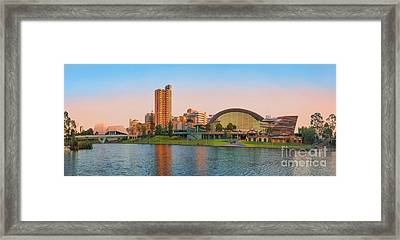 Adelaide Riverbank Panorama Framed Print