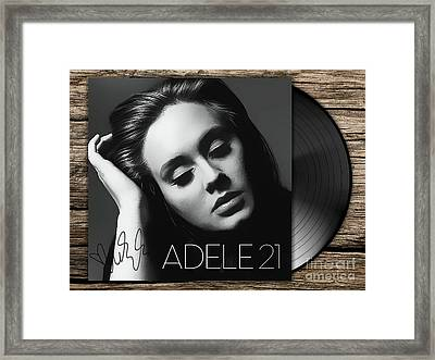 Adele 21 Art With Autograph Framed Print