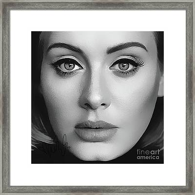 Adele Art With Autograph Framed Print