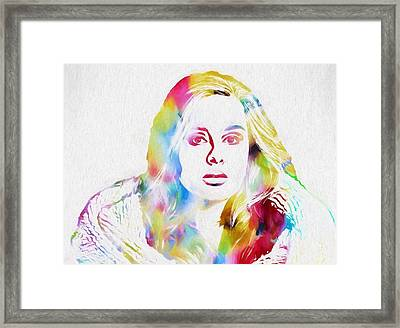 Adele Framed Print by Dan Sproul