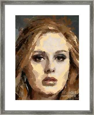 Adele Framed Print by Dragica Micki Fortuna
