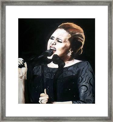 Adele Framed Print by Gary Boyle