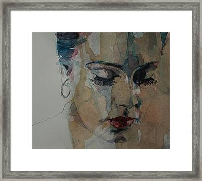 Framed Print featuring the painting Adele - Make You Feel My Love  by Paul Lovering