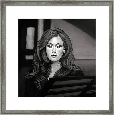 Adele Mixed Media Framed Print by Paul Meijering