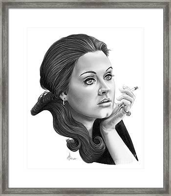 Adele Framed Print by Murphy Elliott
