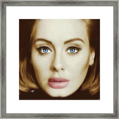 Adele Painting Circle Pattern 2 Framed Print by Tony Rubino