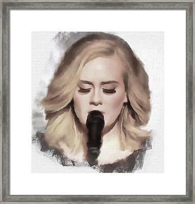 Adele Portrait Hello Framed Print by Yury Malkov