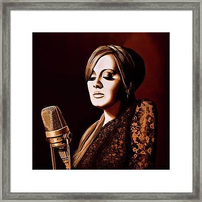Adele Skyfall Gold Framed Print by Paul Meijering