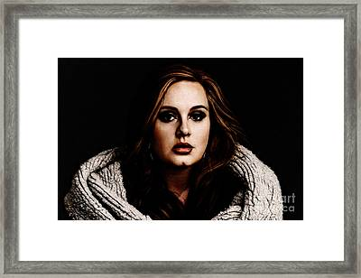 Adele Framed Print by The DigArtisT