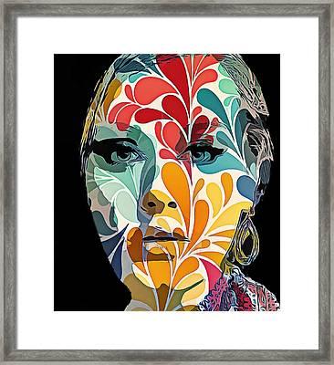 Adelle In Flowers Framed Print