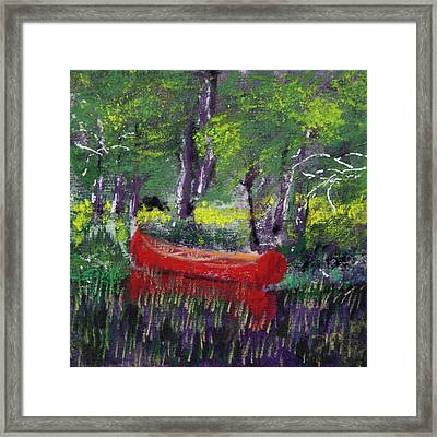 Adirondack Canoe Framed Print by David Patterson