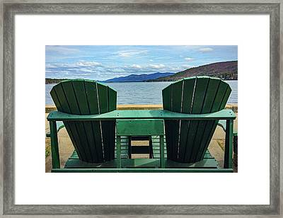 Adirondack Chair For Two Framed Print