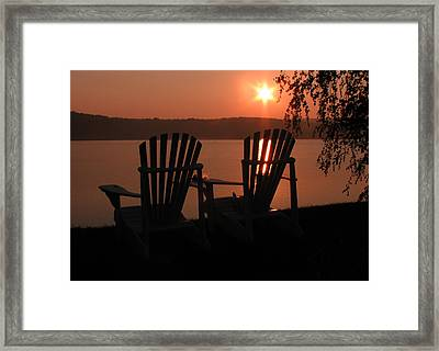 Adirondack Chairs-1 Framed Print by Michael Mooney