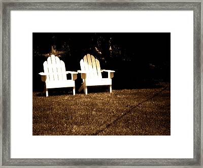 Adirondack Chairs Framed Print by Utopia Concepts