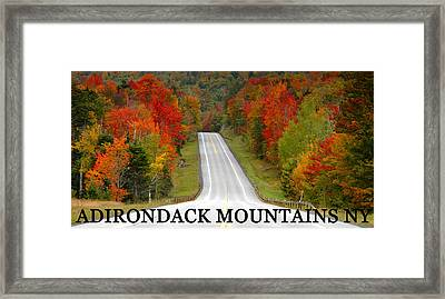 Adirondack Drive Framed Print by David Lee Thompson