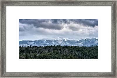 Adirondack High Peaks During Winter - New York Framed Print by Brendan Reals