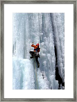 Adirondack Ice Climber  Framed Print by Brendan Reals