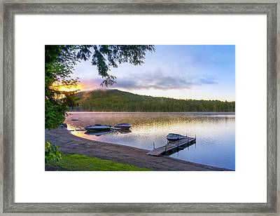 Adirondack Lake Sunrise Framed Print