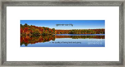 Framed Print featuring the photograph Adirondack October Generosity by Diane E Berry