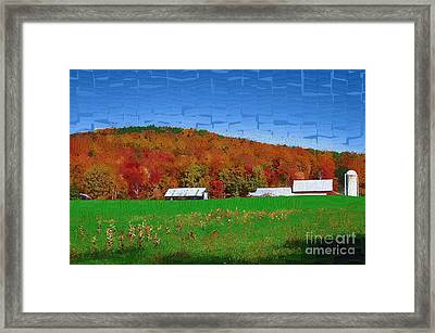 Adirondack Rural Framed Print by Diane E Berry