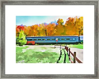 Adirondack Scenic Railroad - Watercolor - Signed Limited Edition Framed Print