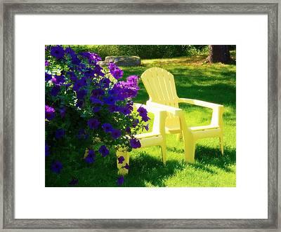 Adirondack Summer Days Framed Print