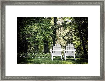 Adirondack Tranquility Framed Print by Robert Anastasi