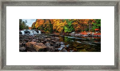 Adirondacks Buttermilk Falls Framed Print by Mark Papke