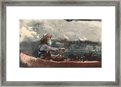 Adirondacks Guide Framed Print by Winslow Homer