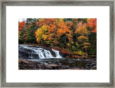 Adirondacks Waterfall Framed Print by Mark Papke