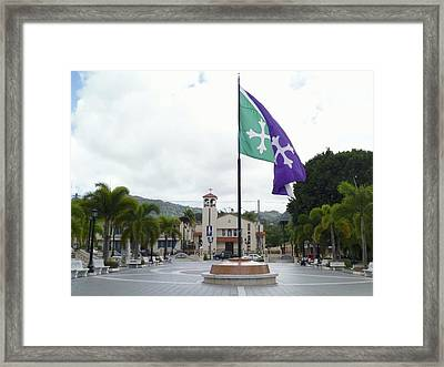 Adjuntas, Puerto Rico Flag Framed Print