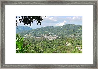 Adjuntas Town Framed Print