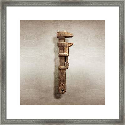Adjustable Iron Wrench Right Face Framed Print by YoPedro