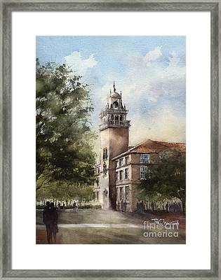 Administration Building At Texas Tech University Framed Print by Tim Oliver