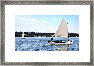 Framed Print featuring the photograph Admirable Sailing On Lake Union by Susan Parish