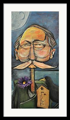 Mustache Paintings Framed Prints