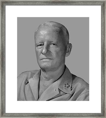 Admiral Chester Nimitz Framed Print by War Is Hell Store