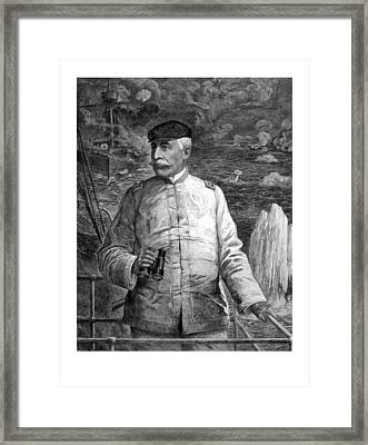 Admiral Dewey At Sea Framed Print by War Is Hell Store