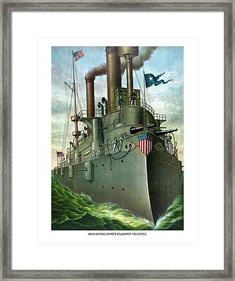 Admiral Dewey's Flagship Olympia  Framed Print by War Is Hell Store