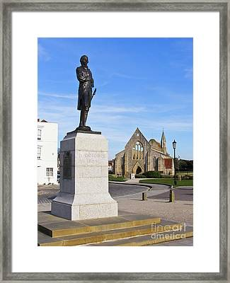 Admiral Lord Nelson And Royal Garrison Church Framed Print by Terri Waters