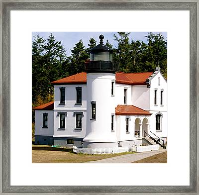 Admirality Head Lighthouse Framed Print by Sonja Anderson