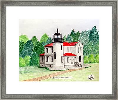 Admiralty Head Light Framed Print by Frederic Kohli