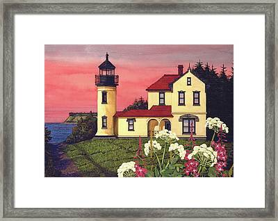 Admiralty Head Lighthouse  Framed Print by James Lyman