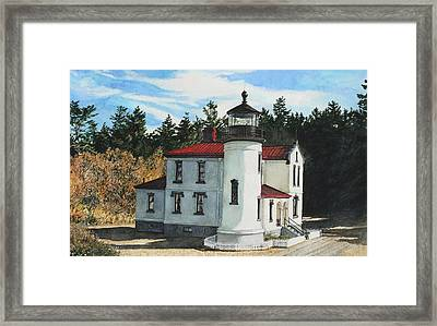 Admiralty Head Framed Print by Perry Woodfin