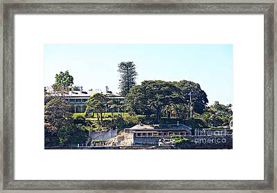 Framed Print featuring the photograph Admiralty House by Stephen Mitchell