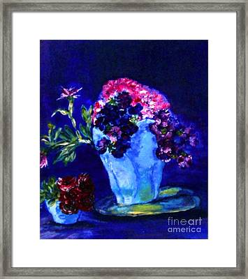 Framed Print featuring the painting Admire by Helena Bebirian