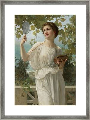 Admiring Beauty Framed Print by Guillaume Seignac