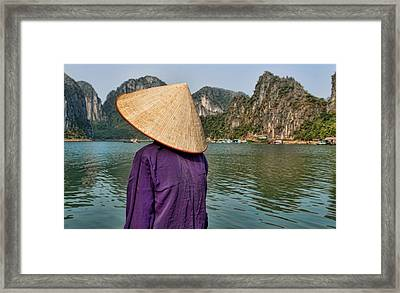 Admiring Ha Long Bay Framed Print