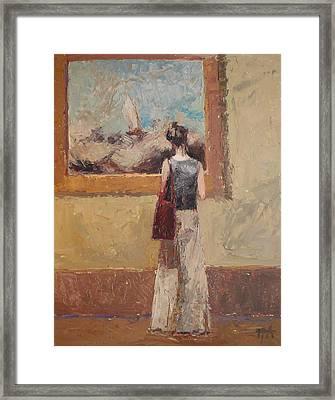 Admiring Turner Framed Print by Irena  Jablonski