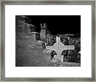 Adobe And The Cross Framed Print by Dennis Sullivan